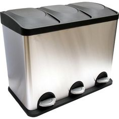 1000 images about poubelles on pinterest cuisine plan - Poubelle deux compartiments ...