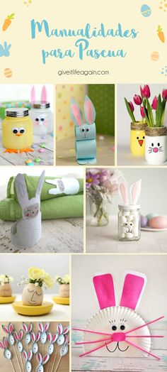 Manualidades de pascua recicladas Table Decorations, Diy, Home Decor, Easter Crafts, Crafts To Make, Recycled Crafts, Creative Crafts, Easter Bunny, Easter Eggs