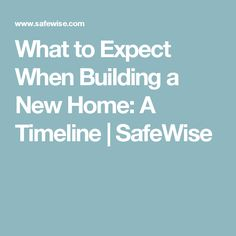 Find out what you need to know when building your new home. This guide from SafeWise includes a helpful timeline, expectations, recommendations, and FAQs. Craftsman Style Kitchens, Basement Remodeling, Bathroom Remodeling, New Home Construction, Building A New Home, New House Plans, Mid Century Decor, Contemporary Bathrooms, New Builds
