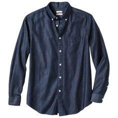 Merona Men's Chambray Button Down Shirt Denim Button Up, Button Up Shirts, Build A Wardrobe, Selling Online, Online Price, Work Shirts, Chambray, Dapper, Button Downs