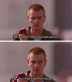 "Trainspotting ""Choice of sweaters, family Christmas, indexed pension, tax… 90s Movies, Good Movies, Movie Tv, Tv Show Quotes, Film Quotes, Movies Showing, Movies And Tv Shows, Mala Persona, Ewan Mcgregor"