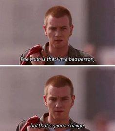 """Trainspotting (1996) """"La verdad es que soy una mala persona, pero eso va a cambiar"""""""