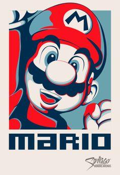 — Icono Gamer Art by Santiago Honoré Bd Art, Super Mario Art, Cartoon Posters, Mario And Luigi, Gaming Wallpapers, Maker, Art Graphique, Video Game Art, Super Smash Bros