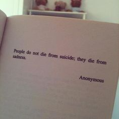 Suicide is a result of depression