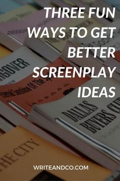 Screenwriting games so fun you'll want to play 'em at your next party! (This is probably why I shouldn't throw parties. Script Writing, Writing Advice, Writing A Book, Writing Prompts, Writing Lessons, Writing Resources, Fiction And Nonfiction, Fiction Writing, Filmmaking Quotes