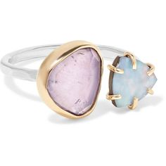 14-karat Gold, Sterling Silver, Amethyst And Opal Ring - one size Melissa Joy Manning