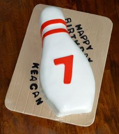 Bowling pin cake www.facebook.com/SugarWhipped