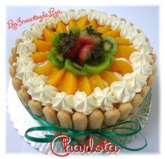 Los Inventos de Lisa: Charlota Charlota Cake, Dora Cake, No Bake Cake, Dessert Cake Recipes, My Dessert, Puerto Rico Food, Gelatin Recipes, Beautiful Desserts, Just Cakes