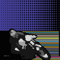 Dot and Stripes Poster Design Inspiration, Motorcycle Art, Paint Designs, Dots, Stripes, Movie Posters, Painting, Color, Paulo Freire