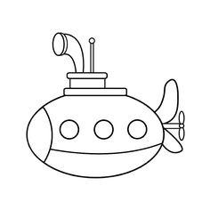 Leuk voor kids kleurplaat ~ duikbootje