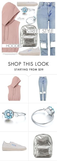 """""""Heads Up! Cute Hoodies"""" by totwoo ❤ liked on Polyvore featuring RVCA, Topshop and Reebok"""