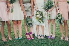 Bridesmaid Dresses At A Vintage Wedding