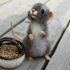 Felted mouse...