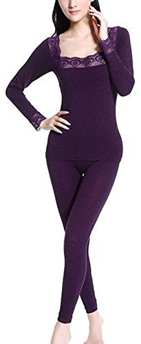 efe4aef1d Simplicity Women's Thermal Underwear Set, Long Sleeve Shirt Hiking Pants,  Hiking Clothes, Thermal
