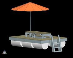 CAD Drawing of Floating Picnic Table tables drawing Floating Picnic Table, Floating Dock, Picnic Tables, Cool Things To Build, Costa Coffee, Cad Drawing, Boat Dock, Outdoor Living, Outdoor Decor