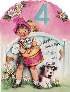 1940s Happy 4th Birthday