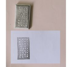 Hand Carved Rubber Stamp - House / Building no.5 (Handmade / Hand Carved / Handcarved Rubber Stamp). $5.00, via Etsy.