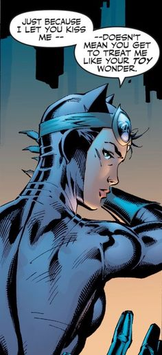 "pinterest.com/fra411 #illustration #comics - ""Toy wonder"" •Jim Lee #CatWoman"