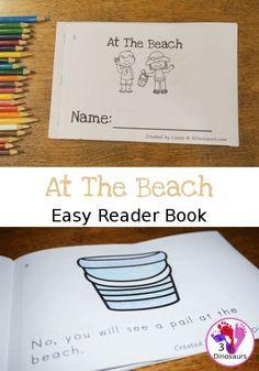 Fun At The Beach Themed Easy Reader Book Easy Reader Beach