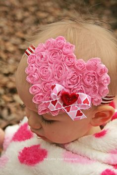 Valentine's Bow  Baby Girl  Baby Girl by LittlePearlBoutique, $12.00