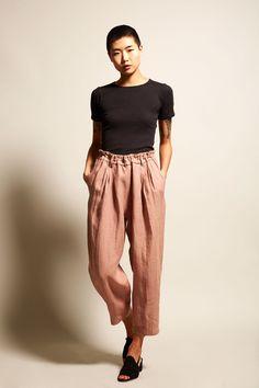 No.6 Nikki Drawstring Pants in Clay Linen