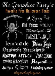 Frightfully Good Free Halloween Fonts Fall holidays will be here before you know it! We've put together some of the creepiest {free} fonts out there for Halloween! These fonts would work rea… Halloween Fonts, Holidays Halloween, Halloween Crafts, Halloween Party, Halloween Clothes, Halloween Designs, Halloween Images, Costume Halloween, Fall Crafts