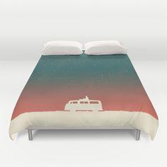 Quiet Night - starry sky by Budi Satria Kwan. #art #duvet #cover #night #bedroom #bed #van