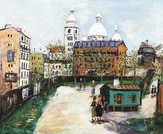 Maurice Utrillo (1883-1955) Le Maquis De Montmartre 1955 (45,6 x 55 cm)