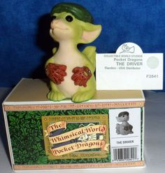 "Whimsical World of Pocket Dragons THE DRIVER 1997 3"" high Real Musgrave E10"