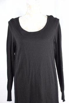 Studio M Womens Black Medium NEW Long Sleeve Light Sweater Shirt Top $88 MSRP #StudioM #KnitTop #Casual