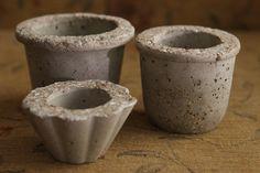 Set of three, Concrete Mini Plant Pots, Succulent Plant Pots, Cactus Plant Pots, Gift for her, Concrete Decoration, Desk accessory by PJCreationCrafts on Etsy