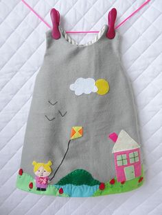 fleece embroidered 9/12 month baby dress