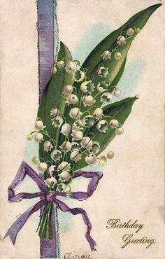 Free Vintage Clip Art – Lily of the Valley