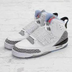 5be0f12ee190c8 Jordan Son Of Mars GS White Prism Blue-Wolf Grey Size 5Y  fashion