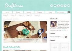 Craftiness is a gorgeous new Genesis theme, which has just been added to the Marketplace themes.