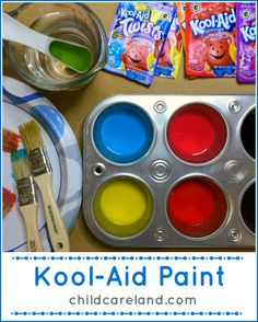 Kool-Aid Paint ... easy to make and smells so good!!