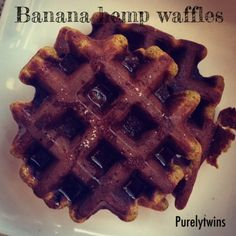 Ripped Recipes - Banana Hemp Protein Waffles - Grain-free banana protein waffles. Soft and delicious. Made from just 5 ingredients.