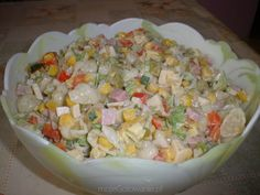 Sałatka z makaronem dusia Mayonnaise, Polish Recipes, Polish Food, Pasta Salad, Quinoa, Potato Salad, Grains, Food And Drink, Cooking Recipes