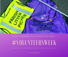Gayle Palmer, Osteopath, encourages everyone to do some volunteering. She is a local litter picker!