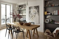 Decor: [style]: Just More French Apartments French Apartment, Paris Apartments, This Is Us, Interior Design, Cool Stuff, Building, Table, House, Inspiration