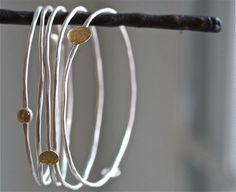 ardent sterling bangles by kathiroussel on Etsy