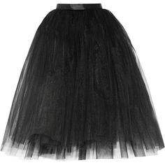 Ballet Beautiful Tulle skirt (880 ZAR) ❤ liked on Polyvore featuring skirts, bottoms, saias, black, full skirt, knee length tulle skirt, structured skirt, layered skirt and tulle skirt