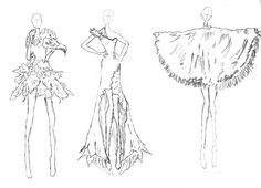 3 Designs out of which I will decide on the FInal  Garment to produce