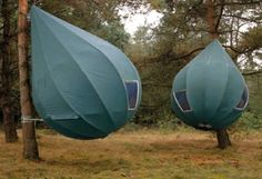 Looking for camping with luxury, nature and beauty in mind, these hanging tree tents shaped like dew-drops are just right for you.
