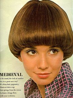 From Seventeen, June 1969. From an article on the page boy hairstyle.