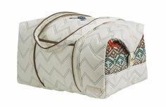 Overnighter Travel Bag II, Ravinia Ivory @organizingstore