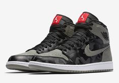 Air Jordan 1 Shadow Camo Release Date. This Air Jordan 1 Retro High uses the Shadow colorway and gives it a Camouflage makeover as part of a Camo Pack. Best Sneakers, Sneakers Fashion, Fashion Shoes, Sneakers Nike, Mens Fashion, Air Jordan Sneakers, Nike Air Shoes, Air Jordan 1 Shadow, Shoe Boots
