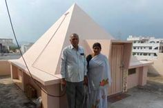 Paramatma Pyramid Meditation Center,year of construction : 2009 size : 12ft x 12ft (roof top) | capapcity : 20 persons cost incurred :  50,000 | type of structure : RCC timing : 6AM-6PM, open for public use contact : Madhava & Lakshimi, mobile : +91 97043 78141 address : P.no 155, RH colony, Dibbapalem, near Srinagar, Gajuwaka http://www.pyramidseverywhere.org/pyramids-directory/pyramids-in-andhra-pradesh/coastal-andhra/visakhapatnam-district