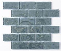 Aqua Sparkle Glass Brick Mosaic 48x98mm Buy Now At Horncastle Tiles For Lowest UK Prices!