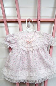 Vintage Baby Clothes Baby Girls Dress by OnceUponADaizy on Etsy, $12.00